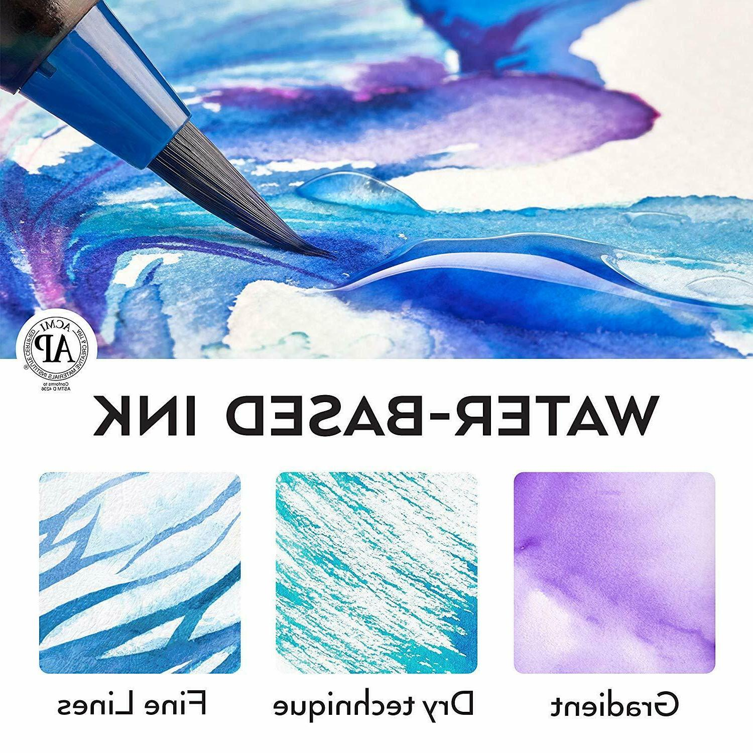 Arteza Real Brush 48 Colors for Watercolor Painting FREE SHIPPING