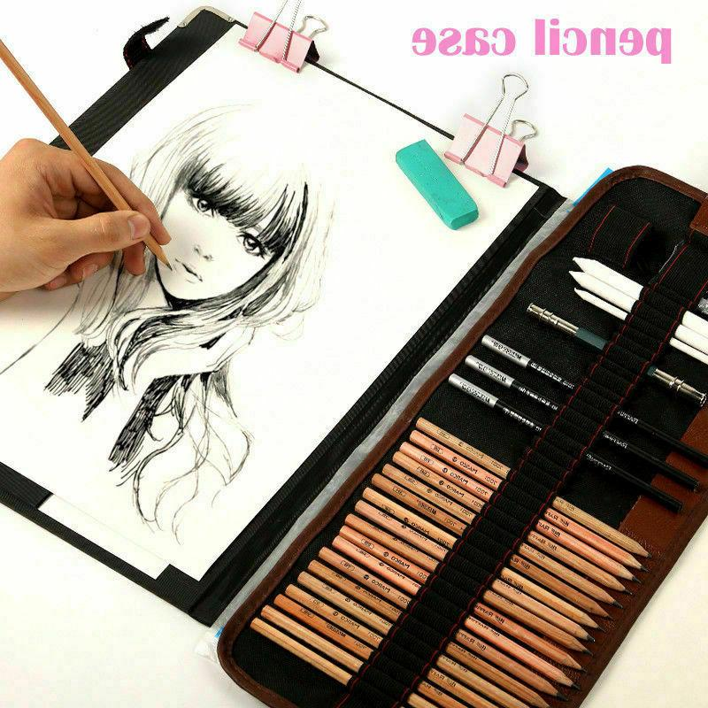 Sketch Drawing Pencil Art Kit Roll Up