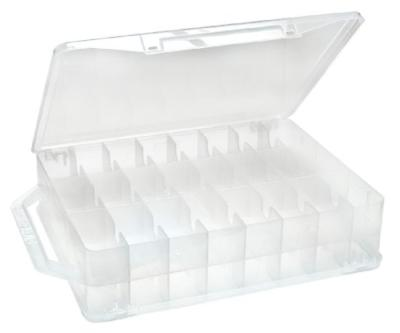 Thread Storage Case Clear Arts Crafts Sewing Supplies Embell