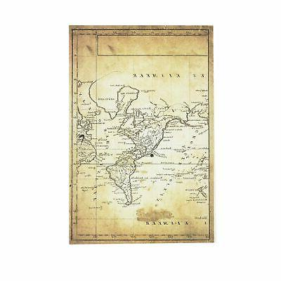 World Map Layflat Sketchbook - x 8.25 Inches Book, Sheets, Thick