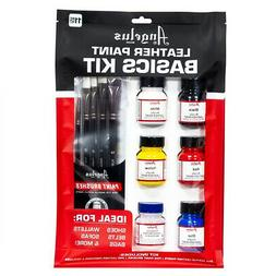 Angelus Leather Paint Basics Kit of Assorted Colors 1 Ounce