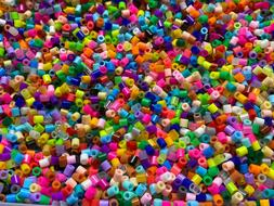 lot of 500 fuse beads and 6