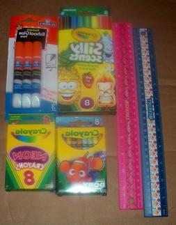 LOT OF CHILDREN'S ART SUPPLIES KIDS SILLY SCENT MARKERS CRAY