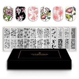 BORN PRETTY Nail Stamping Plates   Flower Image Templates St