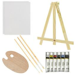 US Art Supply 13-Piece Oil Painting Set with Mini Table Ease