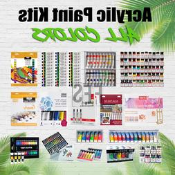 Acrylic Paint Kit Sets Art Supplies Painting Lot Student Pro