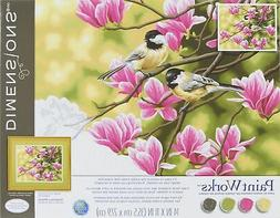 """Dimensions Paint Works Paint By Number Kit 14""""X11""""-Chickadee"""