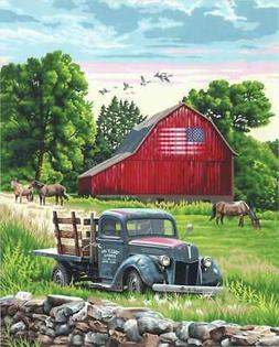 """Paint Works Paint By Number Kit 16""""X20"""" Summer Farm 08867791"""