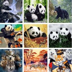 Panda Animals Paint By Number Kit DIY Acrylic Oil Painting O