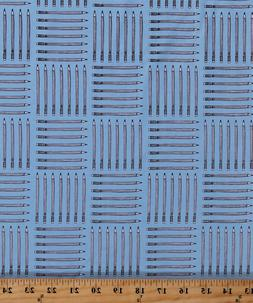 Pencils Writing Utensils Art Supplies Blue Cotton Fabric Pri