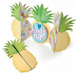 Pineapple Fold-a-long Card Sizzix Thinlits Die Set NEW! 6627