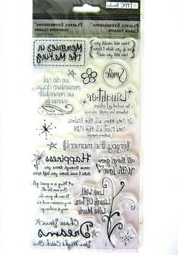 Playful Expressions Clear Sayings Stamp Set by TPC Studio ST