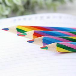 Rainbow Color Wooden Art Pencils Drawing Painting Sketch Kid