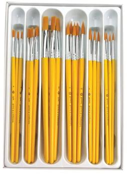 Royal Brush Taklon Hair Classroom Value Pack, Assorted Size,