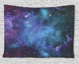 Ambesonne Space Decor Tapestry, Galaxy Stars in Space Celest