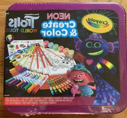 Crayola Trolls World Tour, Neon Create & Color Art Set, Over