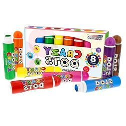 U.S. ART 8 COLOR Crazy Dots Markers-Children's Washable Easy