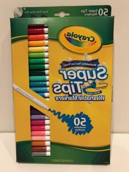 washable super tips markers 50 count new