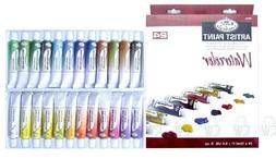 Royal & Langnickel WAT24 Watercolor Artist Tube Paint, 12ml,